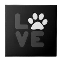 LOVE - Blk/Gry Ceramic Tile