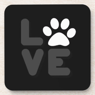 LOVE - Blk/Gry Beverage Coaster