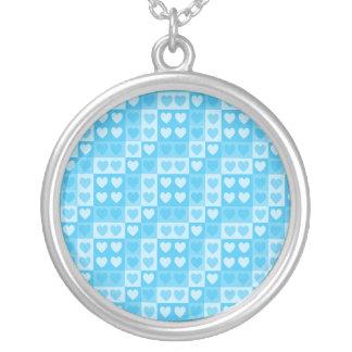 Love Blocks Round Pendant Necklace