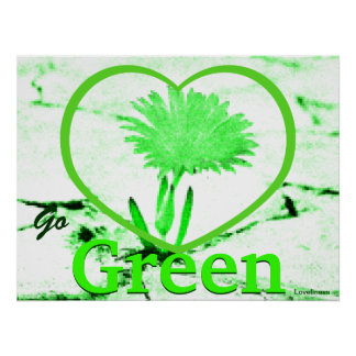 Love Blooming Green Poster-Customize
