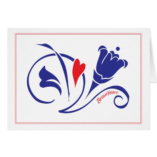 Love Blossoms - Brave Heart Greeting Greeting Card