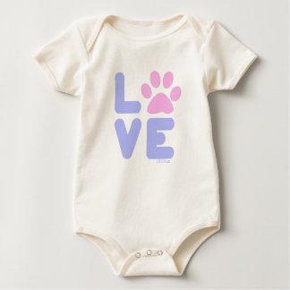 LOVE - Blu/Pnk Baby Bodysuit