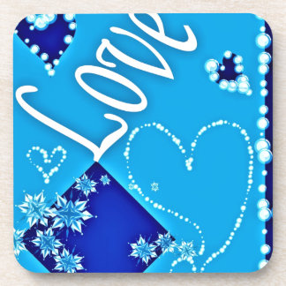 Love Blue All Drink Coaster