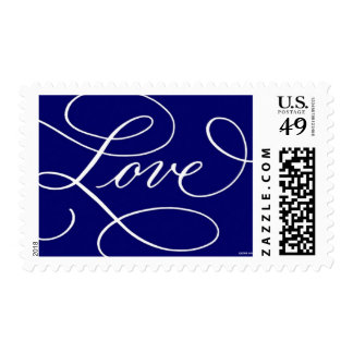 Love . Blue and White Postage