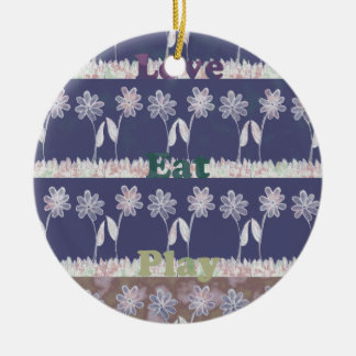 Love Blue Baby Shower colors.png Ceramic Ornament