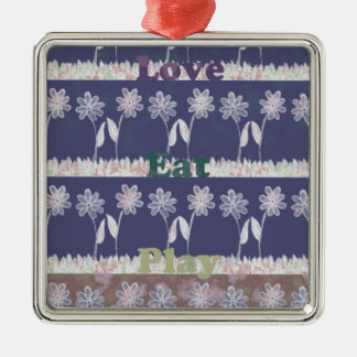 Love Blue Baby Shower colors.png Metal Ornament