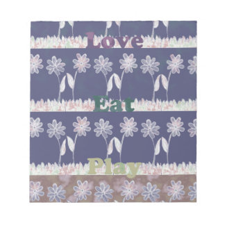 Love Blue Baby Shower colors.png Note Pads