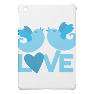 LOVE blue birds iPad Mini Cover
