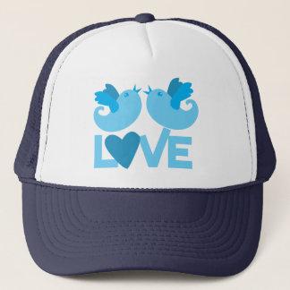 LOVE blue birds Trucker Hat