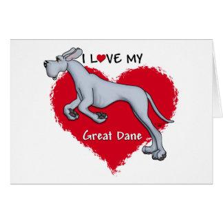Love Blue Great Dane UC Cards