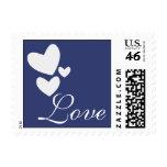 Love Blue Heart Postage
