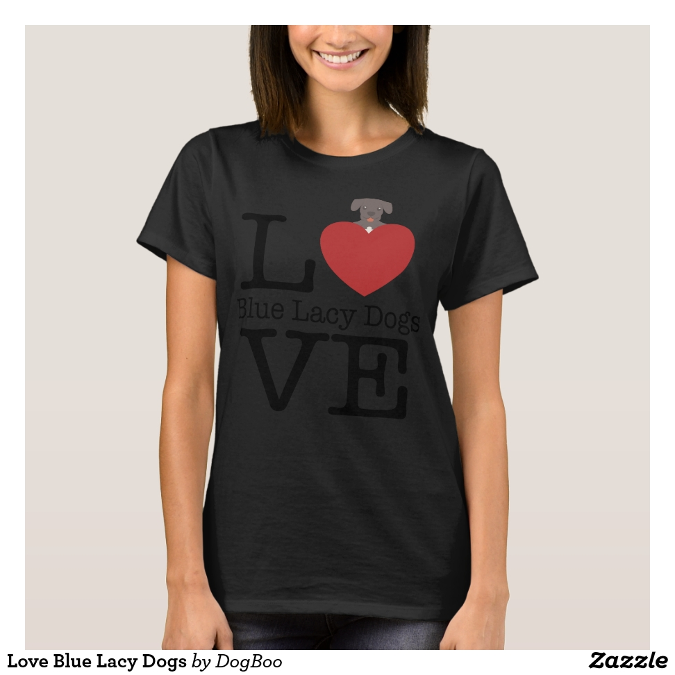 Love Blue Lacy Dogs T-Shirt - Best Selling Long-Sleeve Street Fashion Shirt Designs