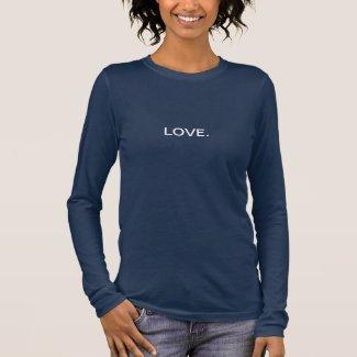 Love. Blue Long Sleeve T-Shirt