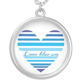 Love Blue Sea Heart Shape Necklace