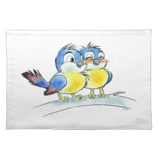 Love bluebirds placemats