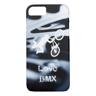 Love BMX with bicycle gears and stunt iPhone 7 Case