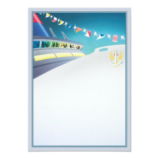 Love Boat © 5x7 Paper Invitation Card