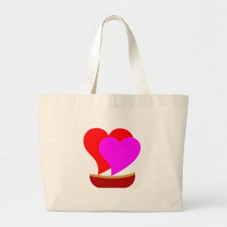 Love Boat Hearts Large Tote Bag