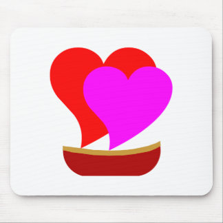 Love Boat Hearts Mouse Pad