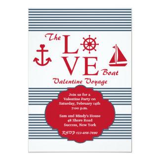 Love Boat Valentine's Party Invitation