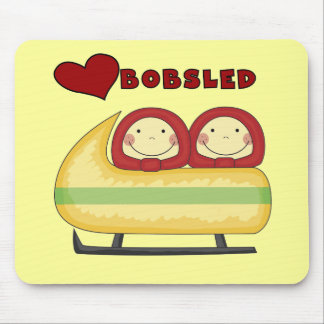 Love Bobsled Tshirts and Gifts Mouse Pad