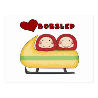 Love Bobsled Tshirts and Gifts Postcard