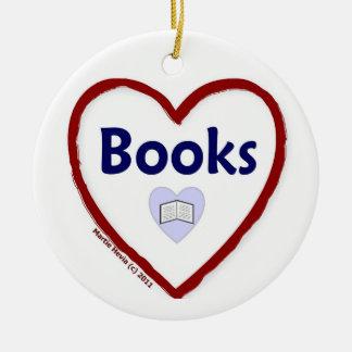 Love Books Ceramic Ornament