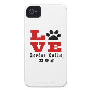 Love Border Collie Dog Designes Case-Mate iPhone 4 Case