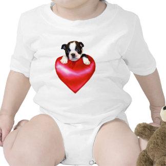 Love Boston Terrier baby T-shirt