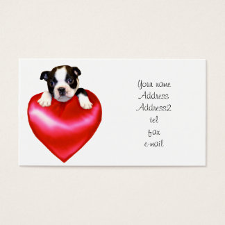 Love Boston Terrier Business Cards
