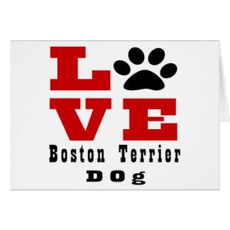 Love Boston Terrier Dog Designes Card