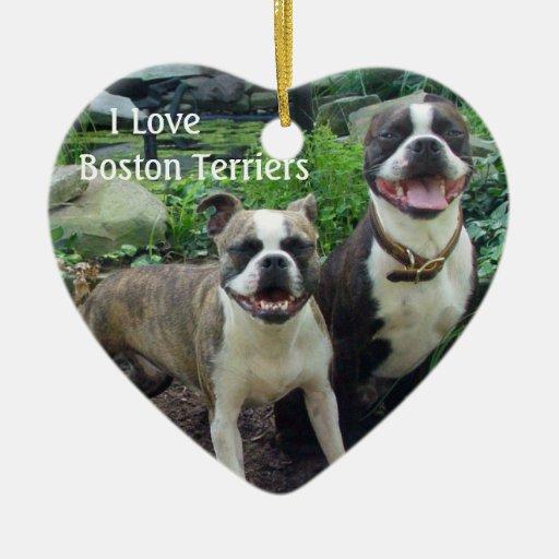 Love Boston Terriers Ornament
