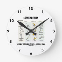 Love Botany Because The World Is Just A Budding Round Clocks