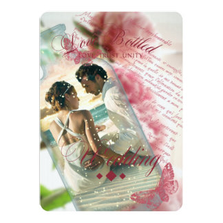 Love Bottled - Wedding Invitation Card
