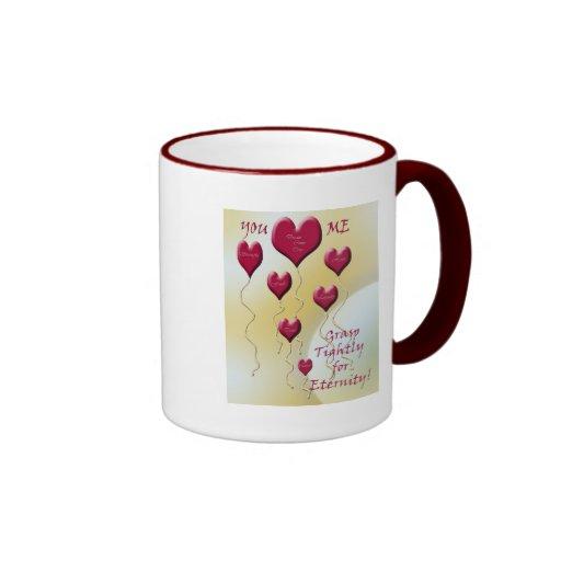Love Bouquet of Hearts (golden yellow) Ringer Coffee Mug