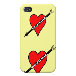 Love Bowling Heart iPhone 4 Cases