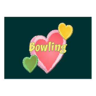 Love Bowling Hearts Business Card Template
