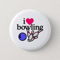 Love Bowling Pinback Button