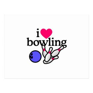 Love Bowling Postcard
