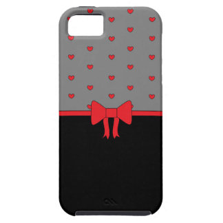 """""""LOVE BOWS"""" Red, Black and Grey iPhone Case"""