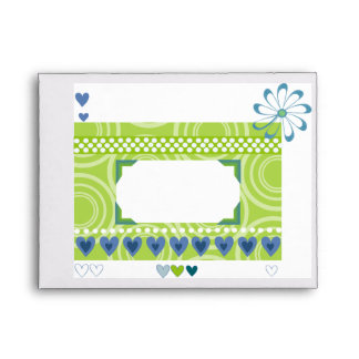 Love box with hearts and flowers envelopes