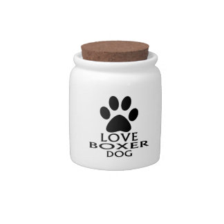 LOVE BOXER DOG DESIGNS CANDY JAR