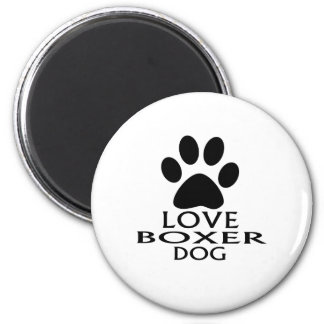 LOVE BOXER DOG DESIGNS MAGNET