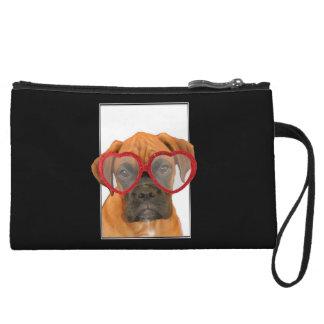 Love Boxer dog Wristlet Wallet