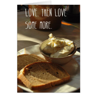 Love bread card