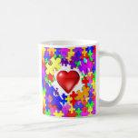 Love Breaks Thru Autism Coffee Mugs