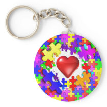 Love Breaks Thru Autism Keychain