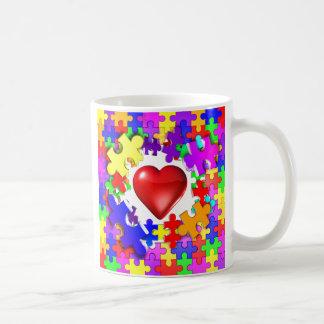 Love Breaks Thru Autism Classic White Coffee Mug