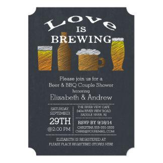 Love Brewing Barbecue Bridal Shower Invitation