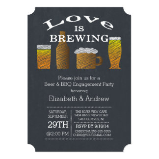Love Brewing Barbecue Engagement Party Invitation